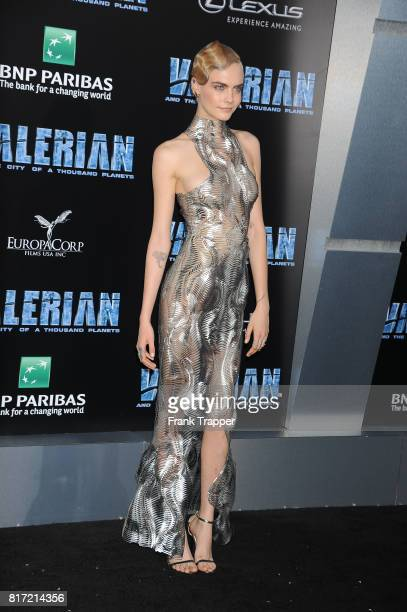 Cara Delevingne attends the premiere of EuropaCorp and STX Entertainment's 'Valerian and The City of a Thousand Planets' held at TCL Chinese Theatre...