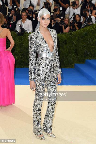 Cara Delevingne attends the 'Rei Kawakubo/Comme des Garcons Art Of The InBetween' Costume Institute Gala at the Metropolitan Museum of Art on May 1...