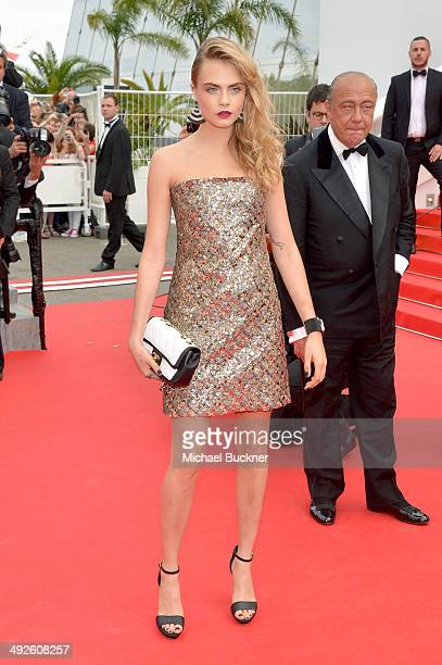 Cara Delevingne attends 'The Search' premiere during the 67th Annual Cannes Film Festival on May 21 2014 in Cannes France