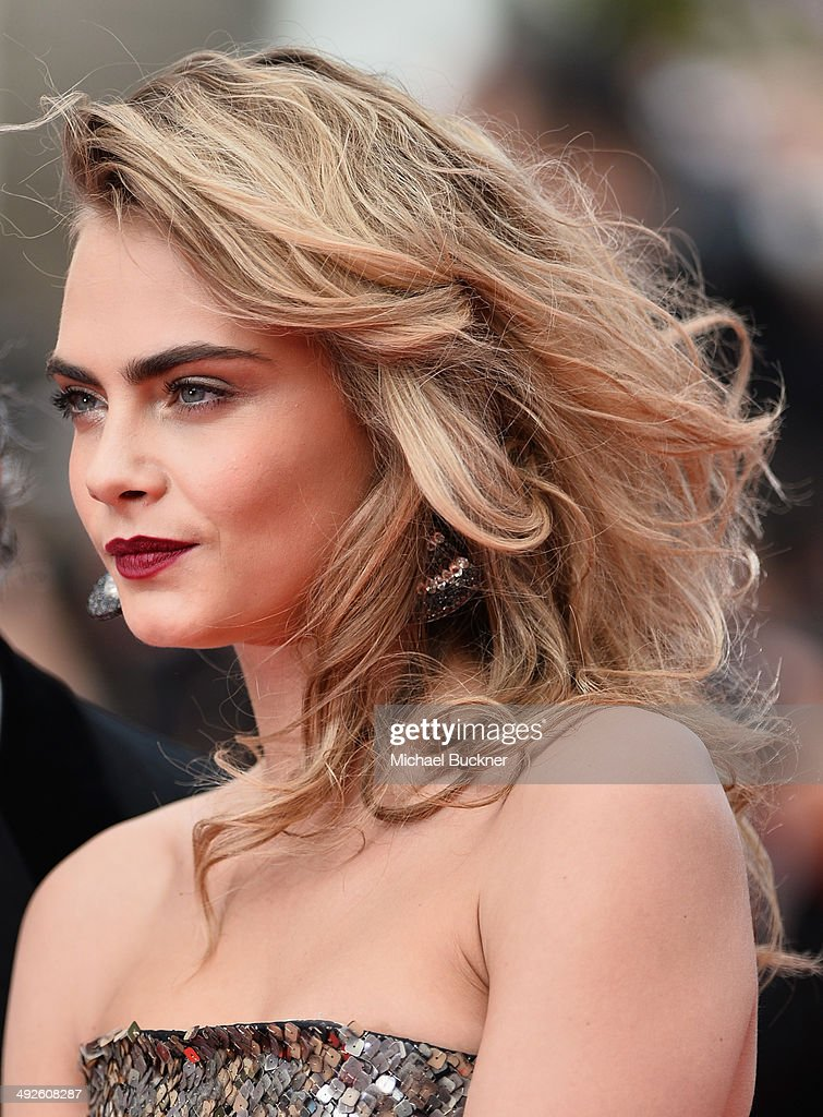 Cara Delevingne attends 'The Search' premiere during the 67th Annual Cannes Film Festival on May 21, 2014 in Cannes, France.