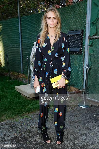 Cara Delevingne attends the Stella McCartney Spring 2015 Presentation at Elizabeth Street Gardens on June 5 2014 in New York City