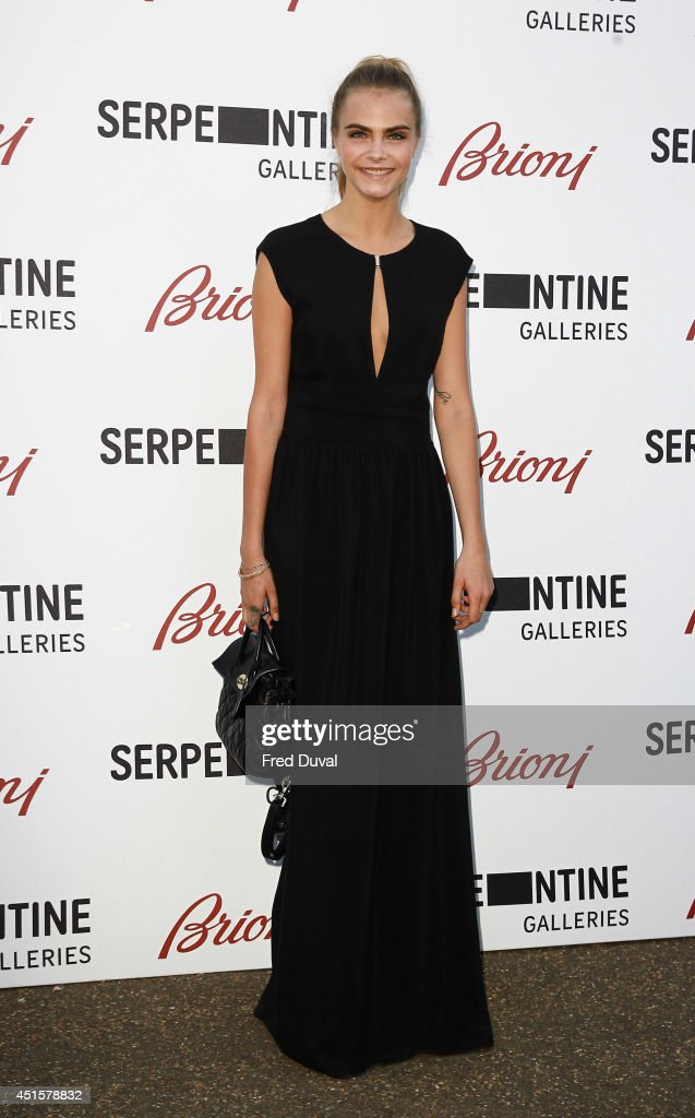 <a gi-track='captionPersonalityLinkClicked' href=/galleries/search?phrase=Cara+Delevingne&family=editorial&specificpeople=5488432 ng-click='$event.stopPropagation()'>Cara Delevingne</a> attends the The Serpentine Gallery summer party at The Serpentine Gallery on July 1, 2014 in London, England.