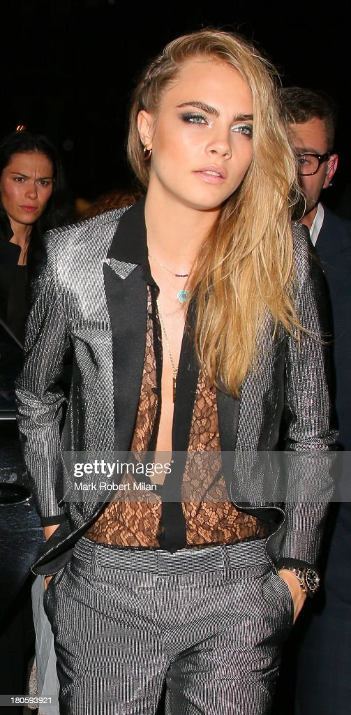 <a gi-track='captionPersonalityLinkClicked' href=/galleries/search?phrase=Cara+Delevingne&family=editorial&specificpeople=5488432 ng-click='$event.stopPropagation()'>Cara Delevingne</a> attends the W Magazine September issue party at The London EDITION hotel on September 14, 2013 in London, England.