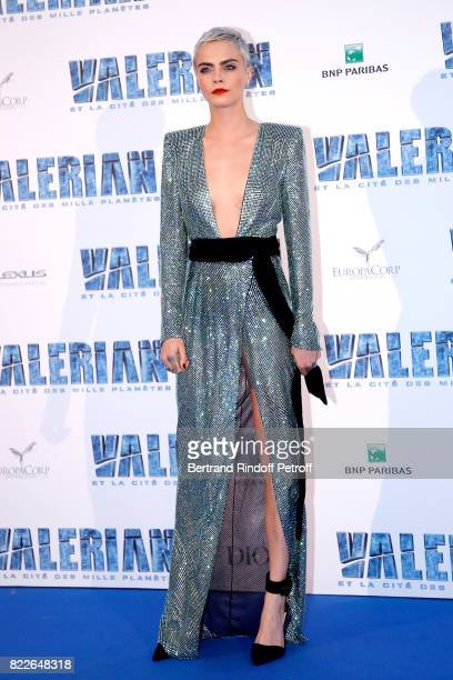 Cara Delevingne attends Valerian and the City of a Thousand Planets Paris Premiere at La Cite Du Cinema on July 25 2017 in SaintDenis France