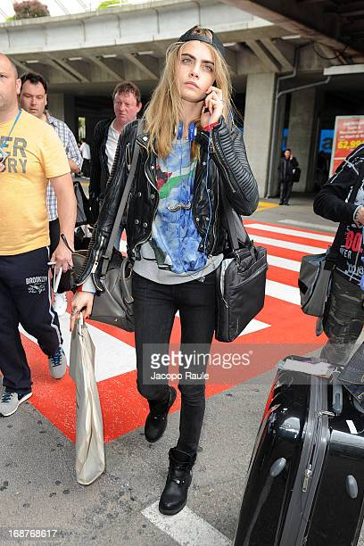 Cara Delevingne is seen arriving at Nice airport during The 66th Annual Cannes Film Festival on May 15 2013 in Nice France