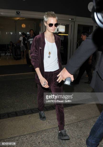 Cara Delevingne is seen at LAX on July 29 2017 in Los Angeles California