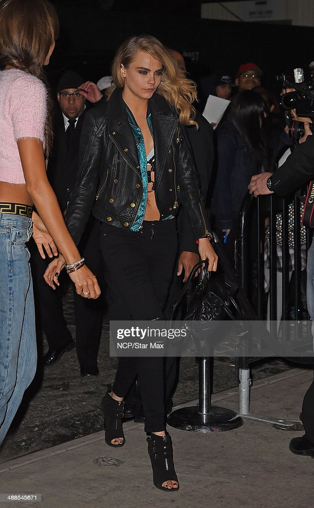 Cara Delevingne is seen at the after-party for The Costume Institute Benefit Gala on May 5, 2014 in New York City.