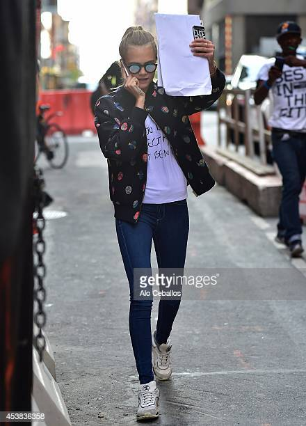 Cara Delevingne is seen on August 19 2014 in New York City