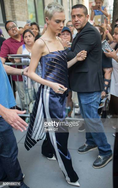 Cara Delevingne is seen on July 21 2017 in New York City