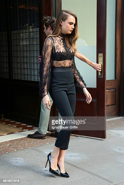 Cara Delevingne is seen on July 22 2015 in New York City