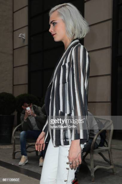 Cara Delevingne is seen on March 30 2017 in New York City
