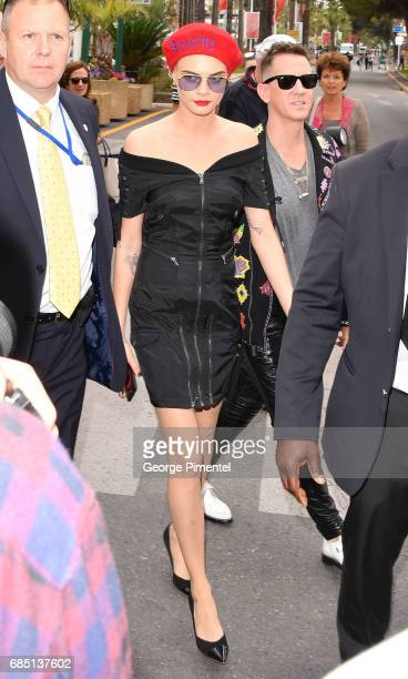 Cara Delevingne is spotted during the 70th annual Cannes Film Festival at on May 18 2017 in Cannes France