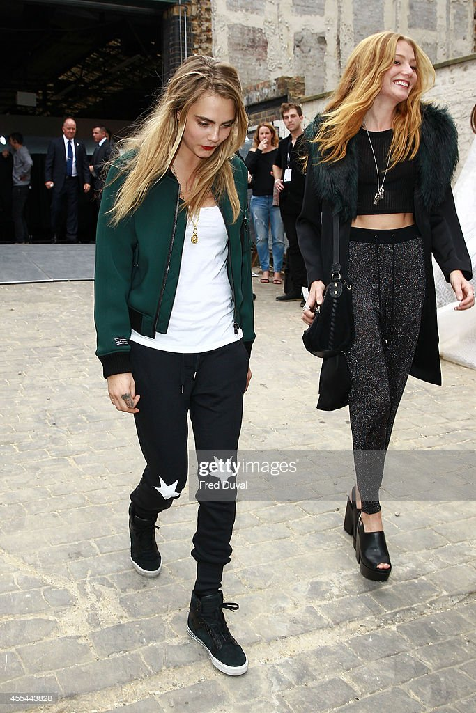 Cara Delevingne sighting at London Fashion Week on September 14 2014 in London England