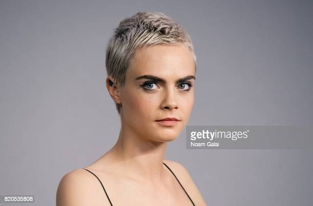 Cara Delevingne visits Apple Store Soho to discuss 'Valerian And The City Of A Thousand Planets' on July 21 2017 in New York City