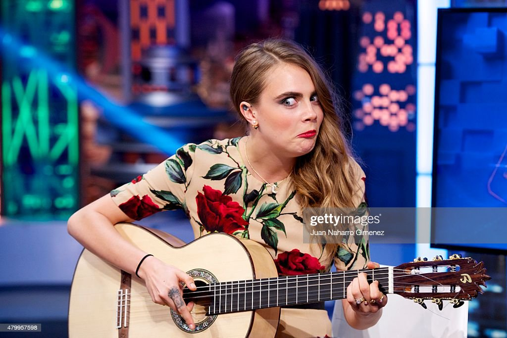 <a gi-track='captionPersonalityLinkClicked' href=/galleries/search?phrase=Cara+Delevingne&family=editorial&specificpeople=5488432 ng-click='$event.stopPropagation()'>Cara Delevingne</a>attends 'El Hormiguero' Tv show at Vertice Studio on July 8, 2015 in Madrid, Spain.