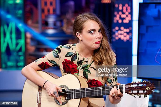 Cara Delevingneattends 'El Hormiguero' Tv show at Vertice Studio on July 8 2015 in Madrid Spain