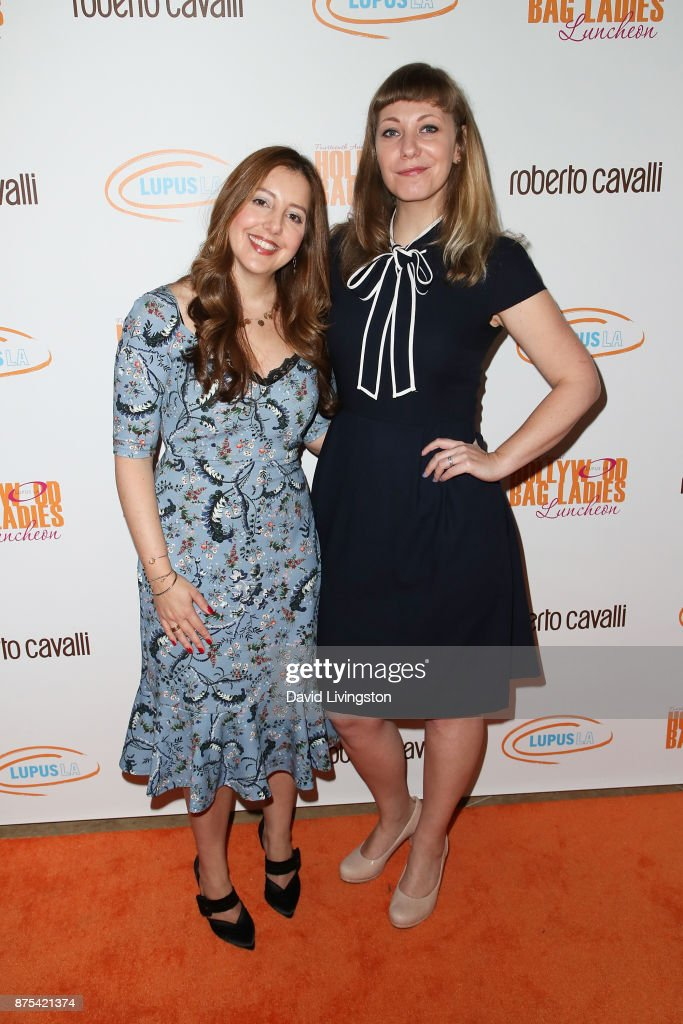 Cara Dellaverson and Emily V. Gordon arrive at the Lupus LA 15th Annual Hollywood Bag Ladies Luncheon at The Beverly Hilton Hotel on November 17, 2017 in Beverly Hills, California.