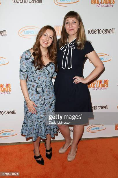 Cara Dellaverson and Emily V Gordon arrive at the Lupus LA 15th Annual Hollywood Bag Ladies Luncheon at The Beverly Hilton Hotel on November 17 2017...