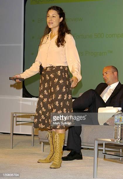 Cara Eisenberg marketing communication manager BP Solar and Trevor Rahn svp Morgan Stanley