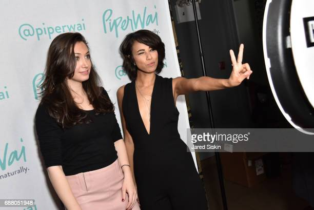 Cara Harvey and Kay Brown attend PiperWai NYC Launch Event at Vnyl on May 24 2017 in New York City