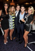 Cara Kilbey Lauren Pope Joey Essex and Sam Faiers pose with the award for Satelitte/Digital Programme award won by The Only Way is Essex at the TRIC...