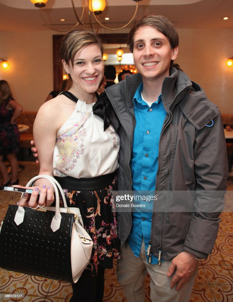 Cara Kovacs and Nick Waits attend Fernanda Capobianco and Amanda Hearst's reception to unveil cruelty-free accessory line, The New Yorker Collection at FP Patisserie on April 23, 2014 in New York City.