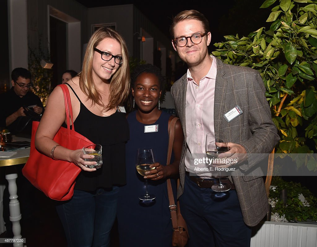 Cara Mitchell Shatara Ford and UK Trade Investment's Tim Crouch attend a British Film Commission UK Film TV Week industry reception at Herringbone...