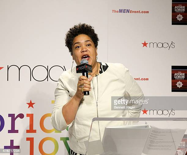 Cara Page Executive Director of the Audre Lorde Project attends the 2015 LGBTQ Changemakers Award Ceremony at Macy's Herald Square on June 23 2015 in...