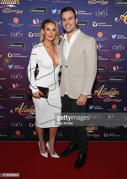 Cara Ryan and Beau Ryan arrive at Aladdin And His Wondrous Lamp opening night at the State Theatre on July 3 2015 in Sydney Australia