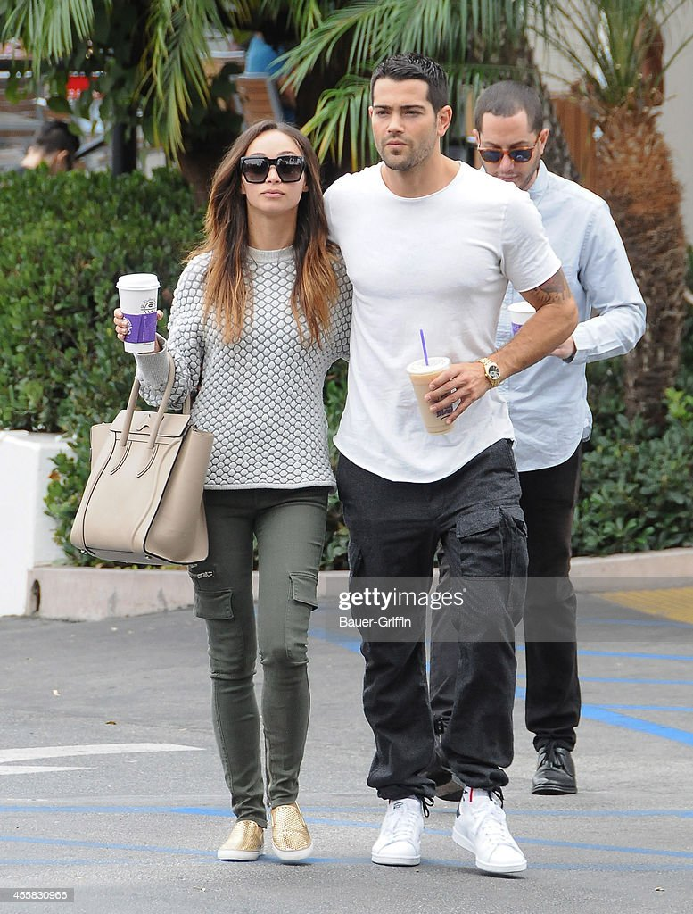Cara Santana and Jesse Metcalfe are seen in Los Angeles on September 20 2014 in Los Angeles California