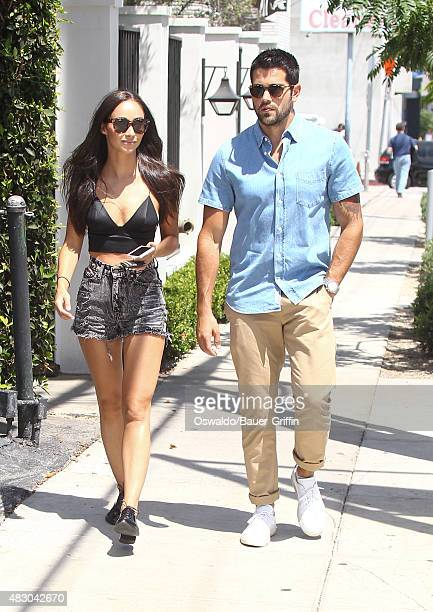 Cara Santana and Jesse Metcalfe are seen on August 05 2015 in Los Angeles California