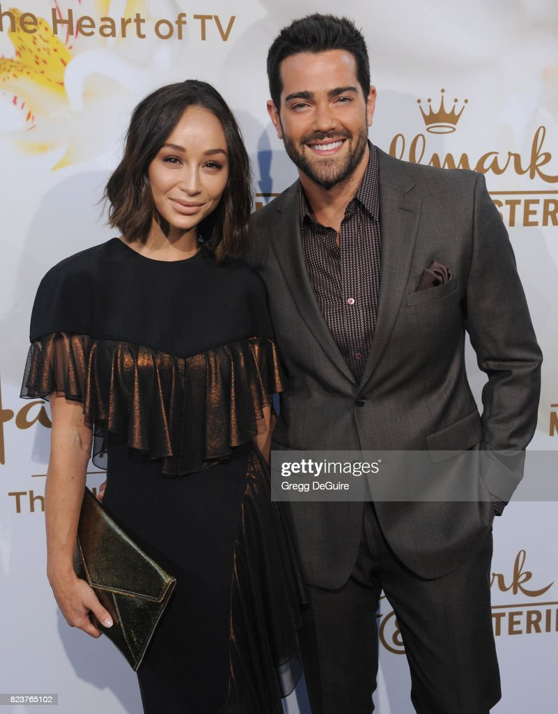 Cara Santana and Jesse Metcalfe arrive at the 2017 Summer TCA Tour - Hallmark Channel And Hallmark Movies And Mysteries at a private residence on July 27, 2017 in Beverly Hills, California.
