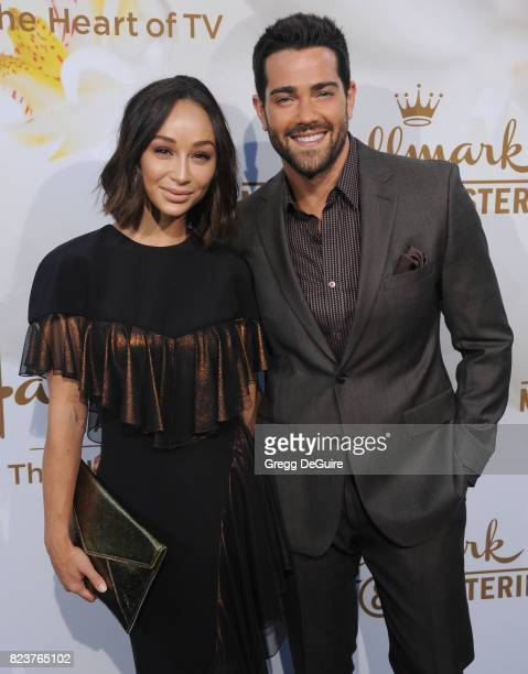 Cara Santana and Jesse Metcalfe arrive at the 2017 Summer TCA Tour Hallmark Channel And Hallmark Movies And Mysteries at a private residence on July...