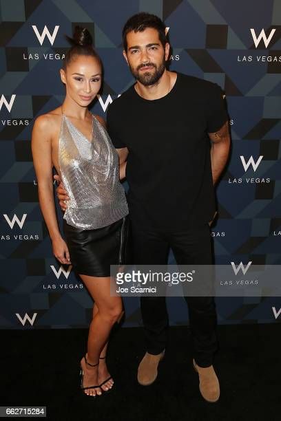 Cara Santana and Jesse Metcalfe arrive at the W Las Vegas Grand Opening Celebration on March 31 2017 in Las Vegas Nevada