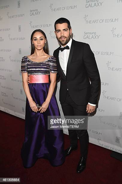 Cara Santana and Jesse Metcalfe attend the 8th Annual HEAVEN Gala presented by Art of Elysium and Samsung Galaxy at Hangar 8 on January 10 2015 in...