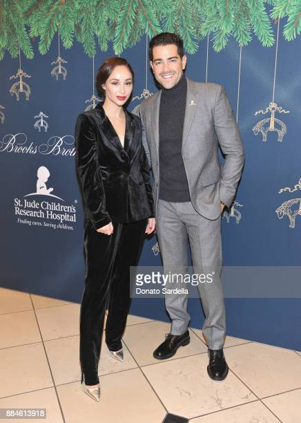 Cara Santana and Jesse Metcalfe attend the Brooks Brothers holiday celebration with St Jude Children's Research Hospital at Brooks Brothers Rodeo on...