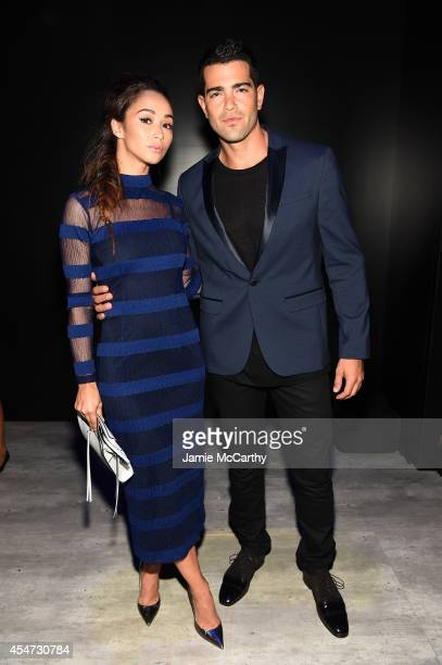 Cara Santana and Jesse Metcalfe attend the Charlotte Ronson Presentation during MercedesBenz Fashion Week Spring 2015 at The Pavilion at Lincoln...