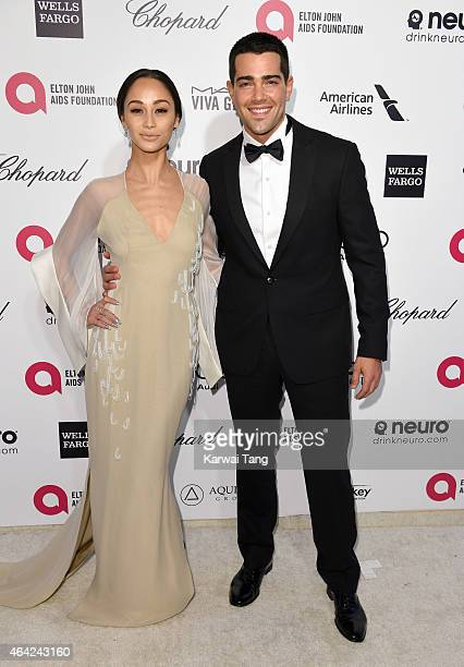 Cara Santana and Jesse Metcalfe attend the Elton John AIDS Foundation's 23rd annual Academy Awards Viewing Party at The City of West Hollywood Park...