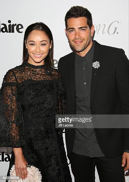 Cara Santana and Jesse Metcalfe attend the 'Fresh Faces' party hosted by Marie Claire celebrating the May issue cover stars on April 11 2016 in Los...