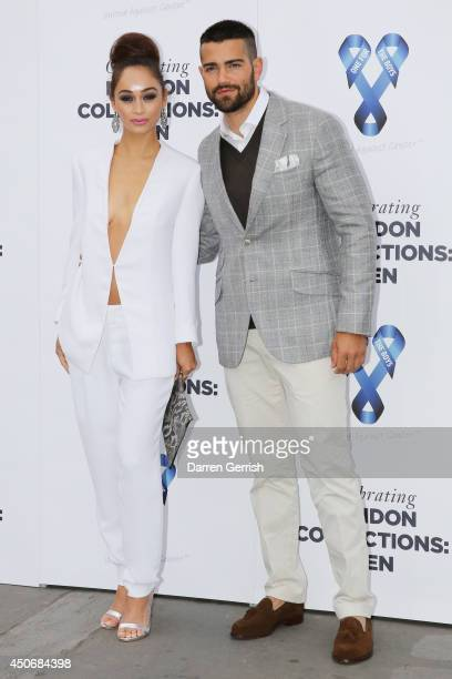 Cara Santana and Jesse Metcalfe attends the One For The Boys Charity Ball during the London Collections Men SS15 on June 15 2014 in London England
