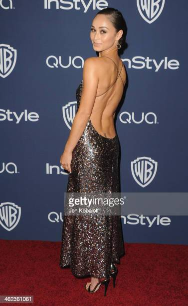 Cara Santana arrives at the 2014 InStyle And Warner Bros 71st Annual Golden Globe Awards PostParty on January 12 2014 in Beverly Hills California