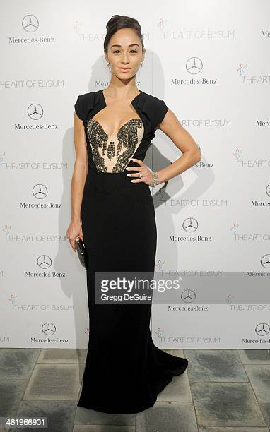 Cara Santana arrives at The Art of Elysium's 7th Annual HEAVEN Gala at the Guerin Pavilion at the Skirball Cultural Center on January 11 2014 in Los...