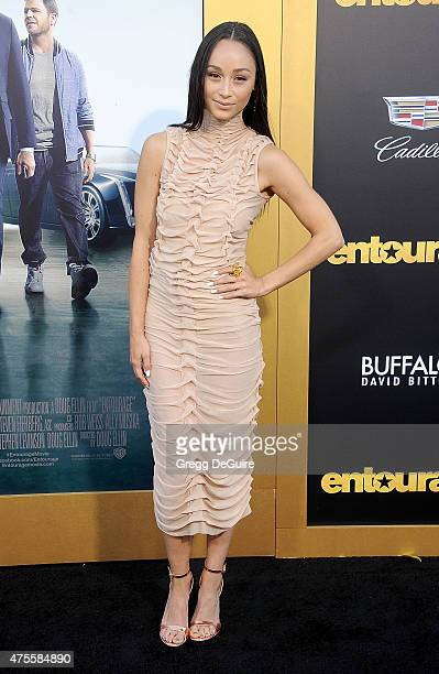 Cara Santana arrives at the Los Angeles premiere of 'Entourage' at Regency Village Theatre on June 1 2015 in Westwood California