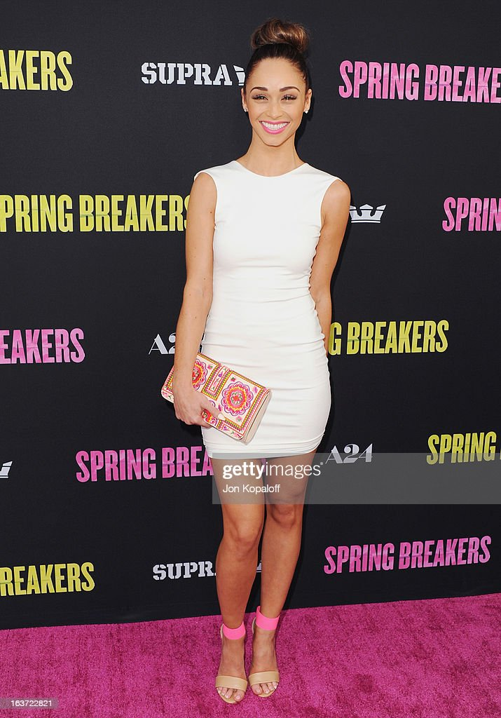 Cara Santana arrives at the Los Angeles Premiere 'Spring Breakers' at ArcLight Hollywood on March 14, 2013 in Hollywood, California.