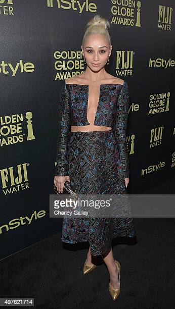 Cara Santana attends Hollywood Foreign Press Association and InStyle celebrate the 2016 Golden Globes Awards season at Ysabel on November 17 2015 in...