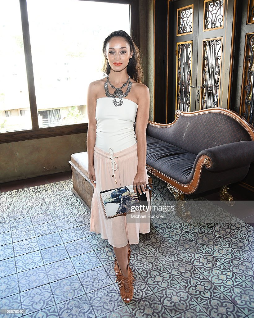 Cara Santana attends The Glam App's Glamchella at the Petit Ermitage on April 7 2015 in Los Angeles California