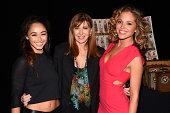 Cara Santana Nicole Miller and Margarita Levieva seen backstage at Nicole Miller fashion show during MercedesBenz Fashion Week Spring 2015 at Lincoln...