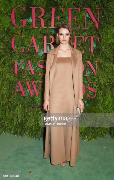 Cara Taylor attends the Green Carpet Fashion Awards Italia at Teatro Alla Scala on September 24 2017 in Milan Italy
