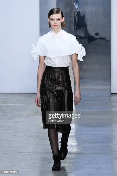 Cara Taylor walks the runway at Carolina Herrera show during New York Fashion Week on February 13 2017 in New York City