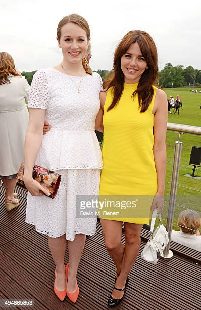 Cara Theobold and Ophelia Lovibond attend day one of the Audi Polo Challenge at Coworth Park Polo Club on May 31 2014 in Ascot England